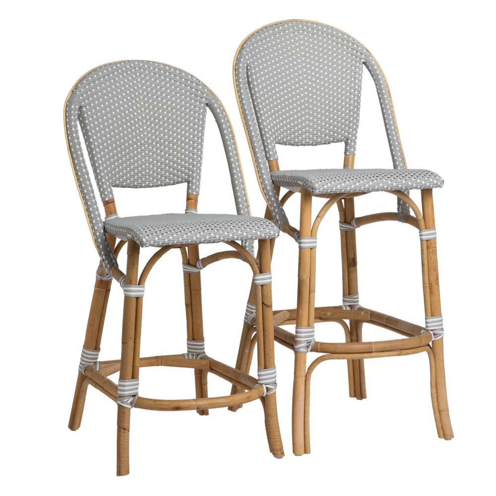 Sofie Bar Stool Grey With White Dots Bistro Patio Furniture