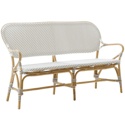 Isabell Bench, white with cappuccino dots