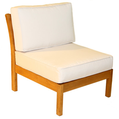 Kamea Armless Chair with Canvas Cushion