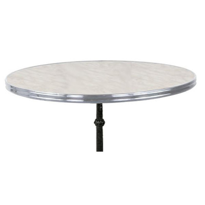 Traditional French Tabletop with chrome rim.