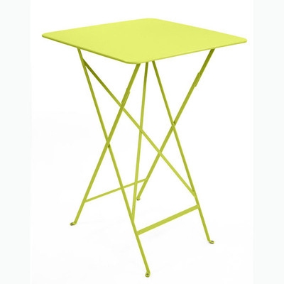 "The Bistro 28"" x 28"" folding high table shown in verbena."