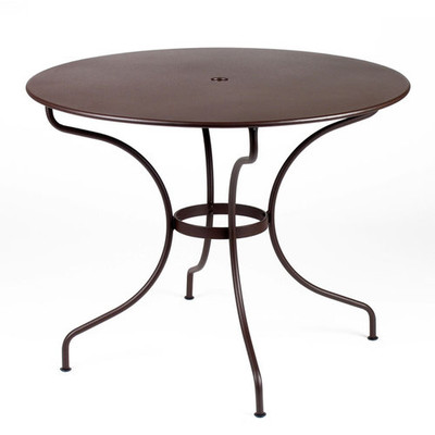 """The 38"""" Opera table shown in Russet."""