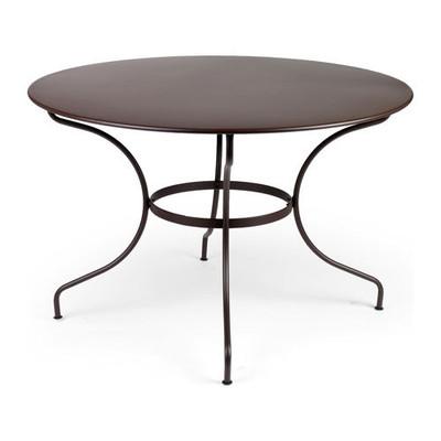 "The 46"" diameter Opera table shown in liquorice."