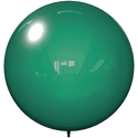 "18"" DARK GREEN BALLOON BOBBER DURABALLOON REPLACEMENT"