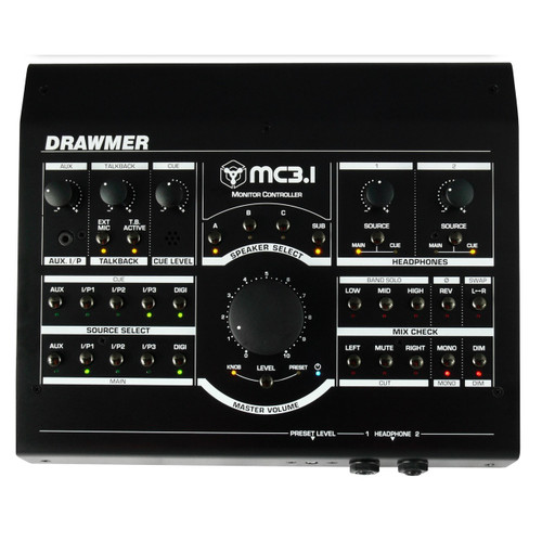 Drawmer MC3.1 Monitor Controller - Top - www.AtlasProAudio.com
