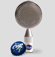 Blue Bottle Cap B1 - Close - www.AtlasProAudio.com
