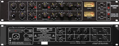Drawmer 1960 Mic Pre/DI/ VCA Compressor - Stereo Unit - www.AtlasProAudio.com