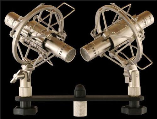 Peluso P-84 Stereo Pair in Shockmounts on Stereo Bar