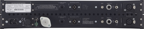 Manley Stereo Pultec EQ Rear Panel