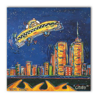 Flying Taxi Canvas