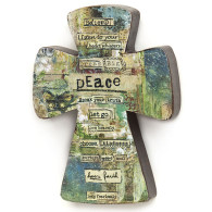 Peace Collage Cross