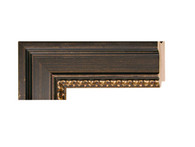 """Style# 80056 Color/Finish: Black  Ornament: Colonial  Collection: Veneto  Width: 2 1/2 """" Rabbet Depth: 1/2 """" Catalog Page #: 41"""