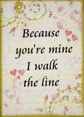 Because you're mine I walk the line