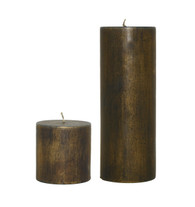 Gold/Green Candle