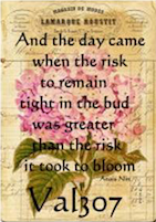 And the day came when the risk...