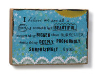 Beautiful Sentiment Block