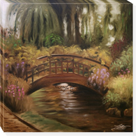Bridge I 35 x 35 overall Dimensions Gallery wrapped canvas