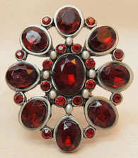 Vintage Candle Pin Red Flower