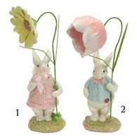 Easter Bunny Couple w/Flowers
