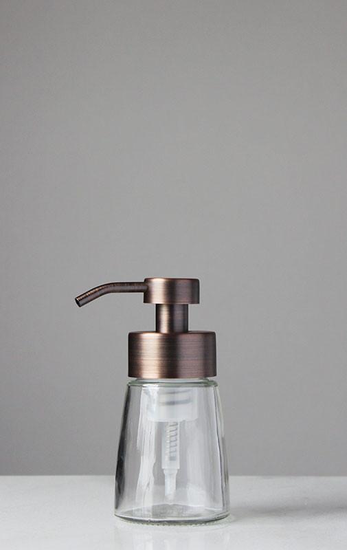 Metal Dispenser Soap Dish Toothbrush Holder Bathroom: Small Glass Foam Soap Dispenser
