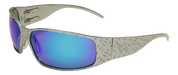 Tornado GunMetal Aluminum frame with Blue Chrome Lenses Motorcycle Biker Aluminum Sunglass