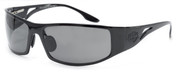 OutLaw Eyewear Fugitive Motorcycle Aluminum Sunglass- Black frame with Polarized Gray lenses