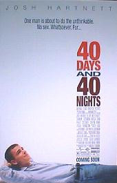 40 DAYS AND 40 NIGHTS original issue rolled 1-sheet movie poster