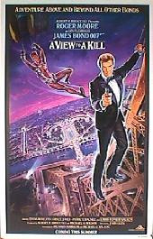 A VIEW TO A KILL original issue rolled Advance A 1-sheet movie poster