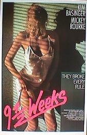 9 1/2 WEEKS original issue rolled International 1-sheet movie poster