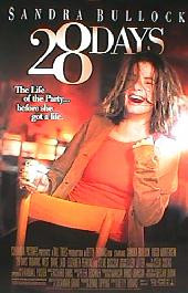 28 DAYS original issue rolled double sided 1-sheet movie poster