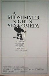 A MIDSUMMER NIGHT'S SEX COMEDY original issue folded 1-sheet movie poster