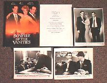 BONFIRES OF THE VANITIES original issue movie presskit