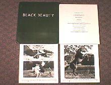 BLACK BEAUTY original issue movie presskit
