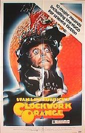 A CLOCKWORK ORANGE reissue folded 1-sheet movie poster