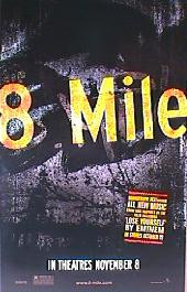 8 MILE original issue rolled Advance 1-sheet movie poster