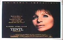 YENTL original issue 22x28 rolled movie poster