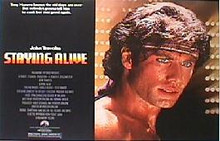 STAYING ALIVE original issue 22x28 rolled movie poster