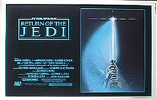 RETURN OF THE JEDI  original issue 22x28 Style A rolled  movie poster