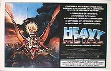 HEAVY METAL- original issue Style A 22x28 rolled movie poster