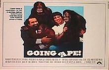 GOING APE original issue  22x28 rolled movie poster