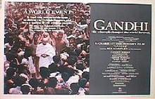 GANDHI original issue 22x28 rolled movie poster