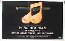 FIRST NUDE MUSICAL,THE original issue 22x28 rolled movie poster