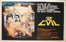 FEAR NO EVIL original issue 22x28 rolled movie poster