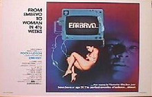 EMBRYO original issue 22x28 movie  poster