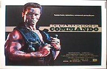 COMMANDO original issue rolled 22x28 movie  poster