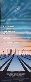 STRANGE INVADERS original issue 14x36 rolled movie poster
