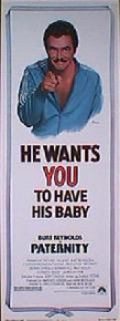 PATERNITY original issue 14x36 rolled movie poster
