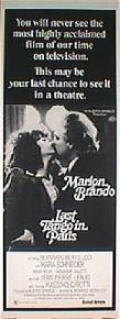 LAST TANGO IN PARIS original issue 14x36 style C rolled movie poster