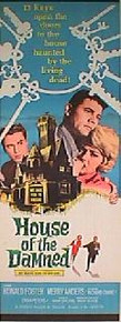 HOUSE OF THE DAMNED original issue 14x36 rolled movie poster