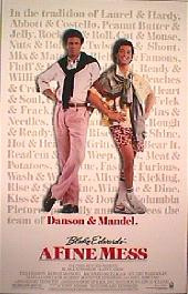 A FINE MESS original issue rolled 1-sheet movie poster